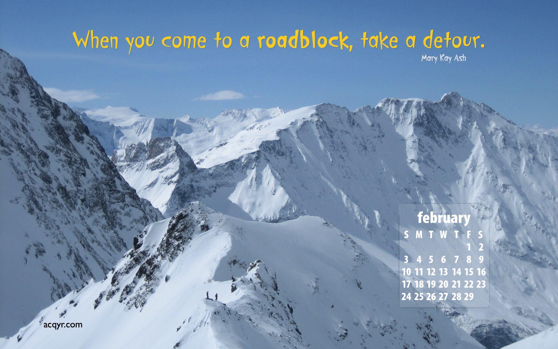 February 2008 Desktop Wallpaper Calendar   2 1920x1200