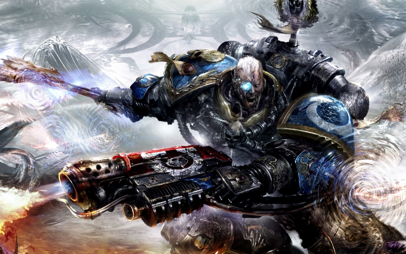 chaos space marines hate tyranids warhammer 40k 1529x1049 wallpaper 1680x1050