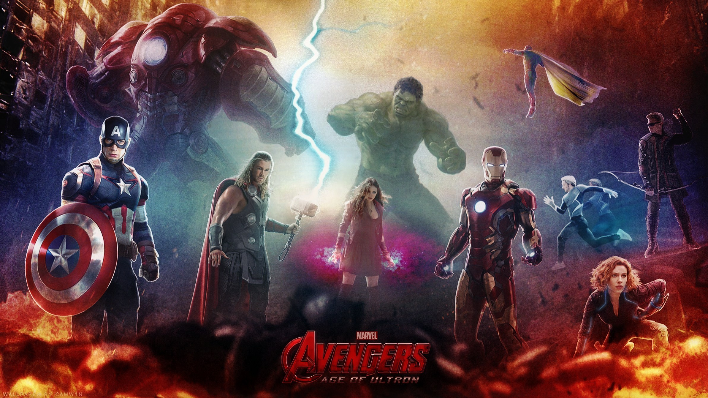 Thor Avengers Age of Ultron Wallpapers HD Wallpapers 2385x1340