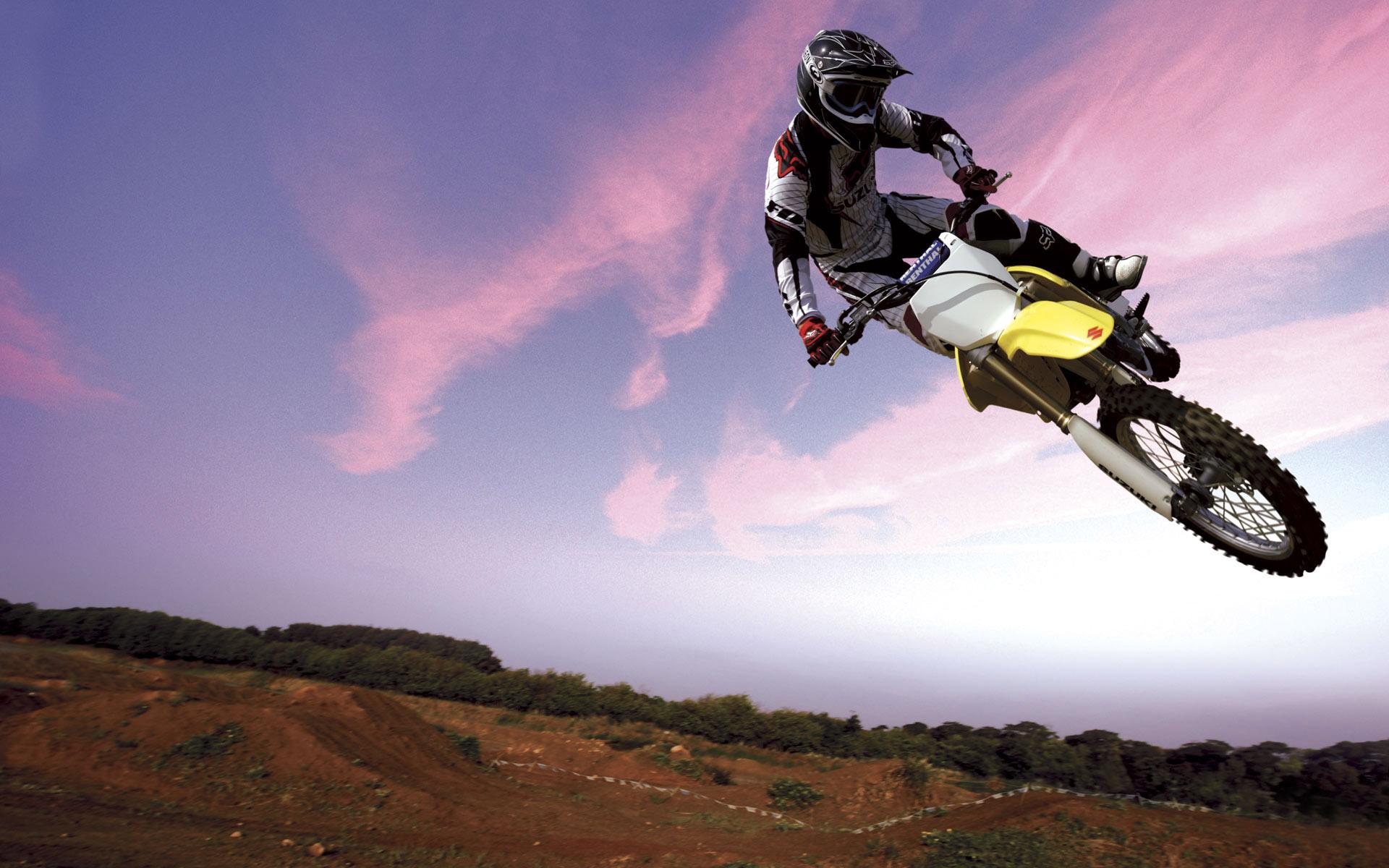 Motocross Bike in Sky Wallpapers HD Wallpapers 1920x1200