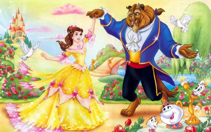 Belle And Beast Disney Wallpaper Widescreen Hd Desktop Wallpapers 736x460