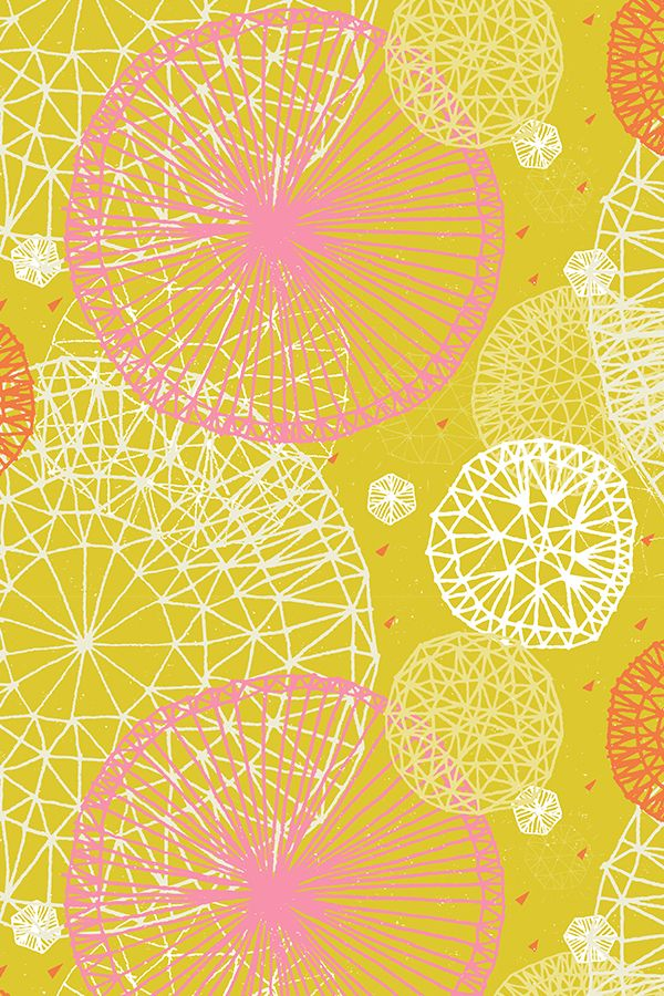 Colorful fabrics digitally printed by Spoonflower   Geodesic in 600x900