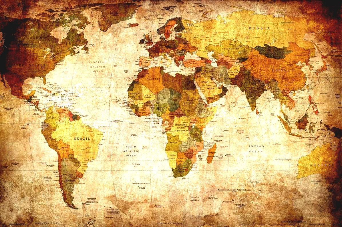 World map wallpaper high resolution wallpapersafari 1196x794 vintage world map high resolution great art xxl poster sciox Images