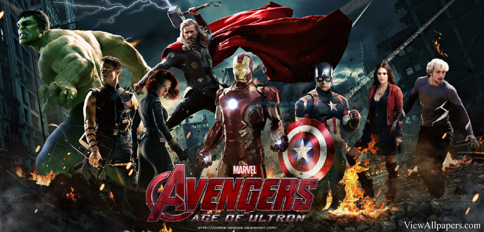 Avengers Age Of Ultron Poster High Resolution Wallpaper download 1600x767