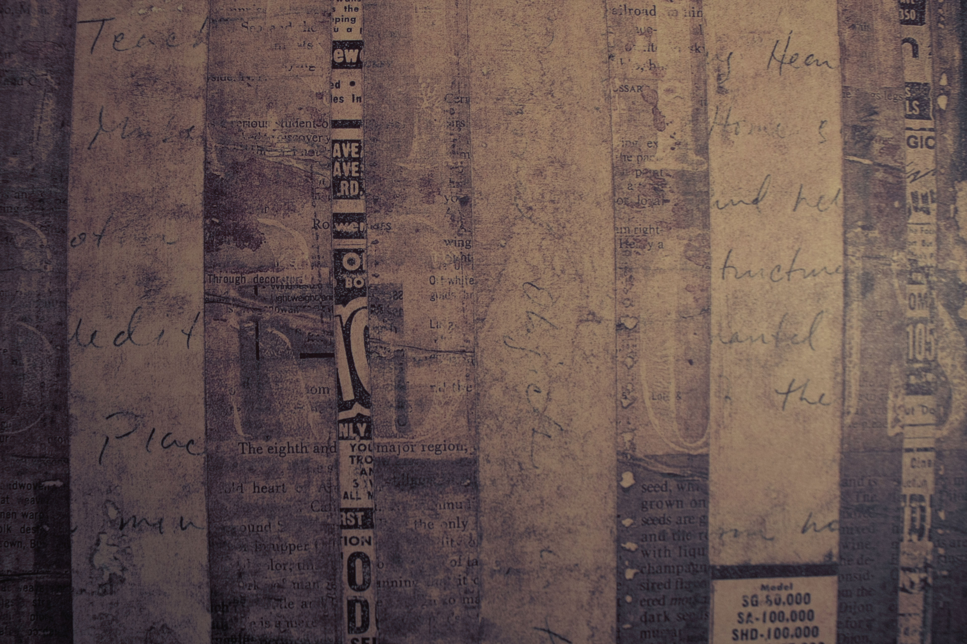 Group of Vintage Wallpaper Newsprint We Heart It 3888x2592