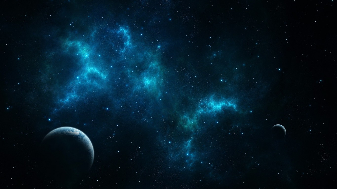 deep blue space   1080 HD Wallpaper 1366x768