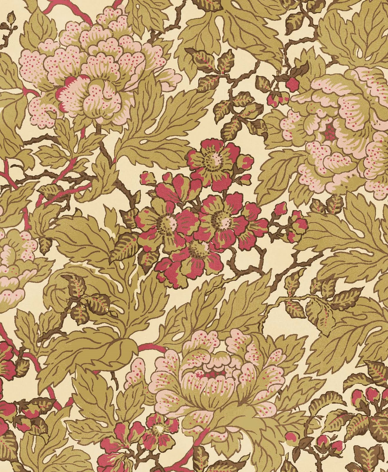 Waverly Jacobean Wallpaper
