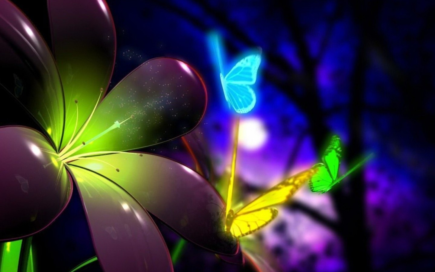 cool 3d butterflies hd tablet wallpaper share this awesome hd tablet 1440x900