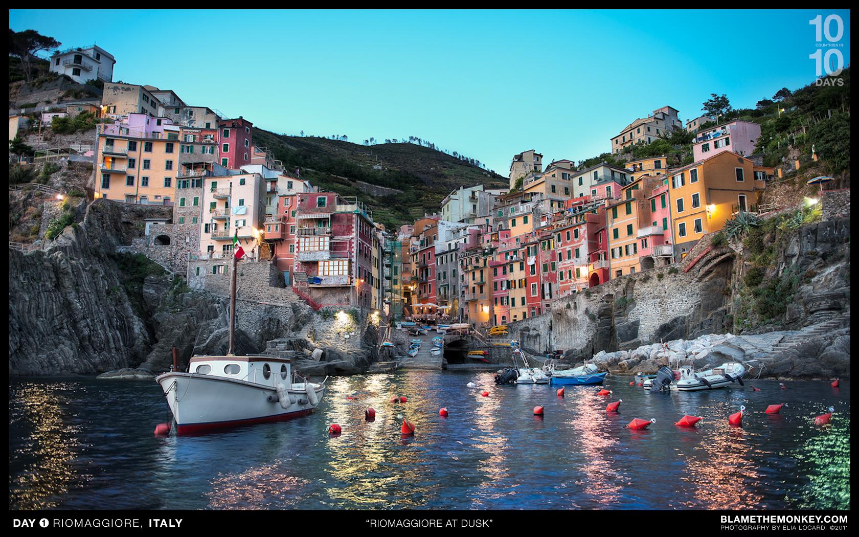 in 10 Days from Google Day One   Riomaggiore Cinque Terre Italy 1680x1050