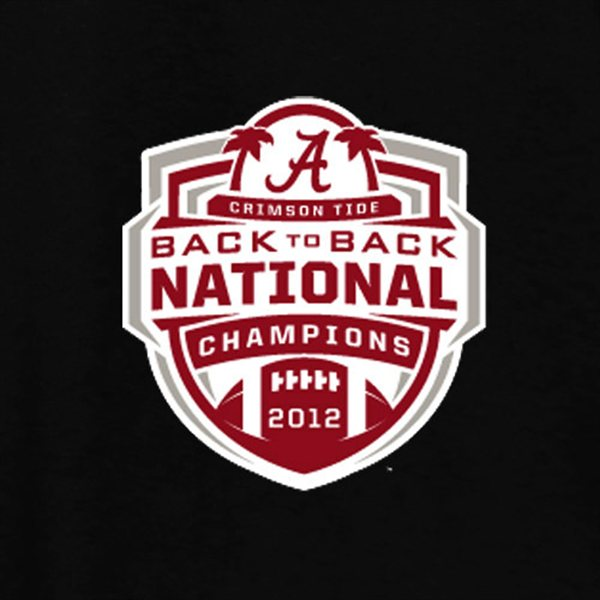 Alabama Crimson Tide 2012 BCS National Champions Back to Back 600x600