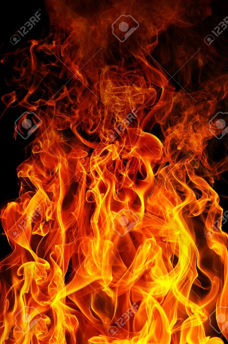Fire On A Black Background Stock Photo Picture And Royalty 863x1300