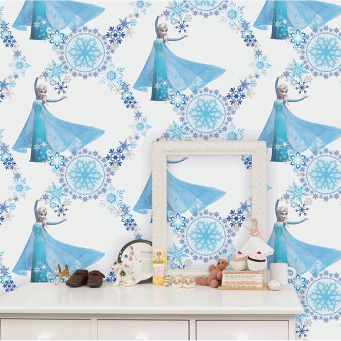 Disney Frozen Disney Frozen Girls Bedroom Wallpaper   Snow Queen 700x700