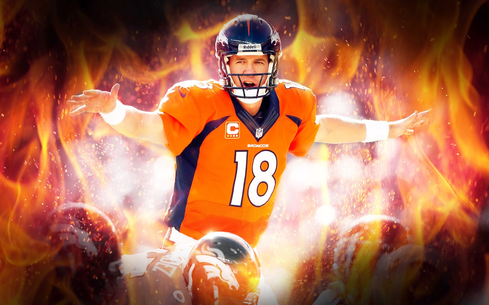 Wallpapers Backgrounds More New Peyton Manning Wallpaper   Broncos 1600x1000