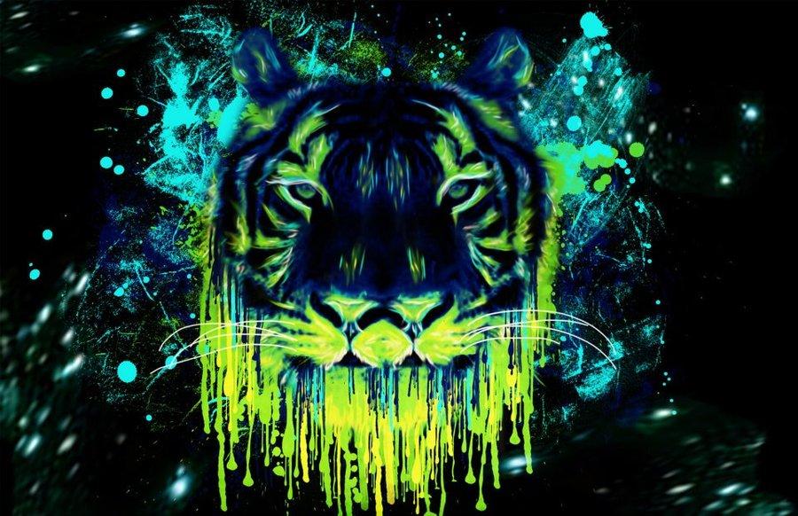 Trippy Lion Wallpaper 1080p