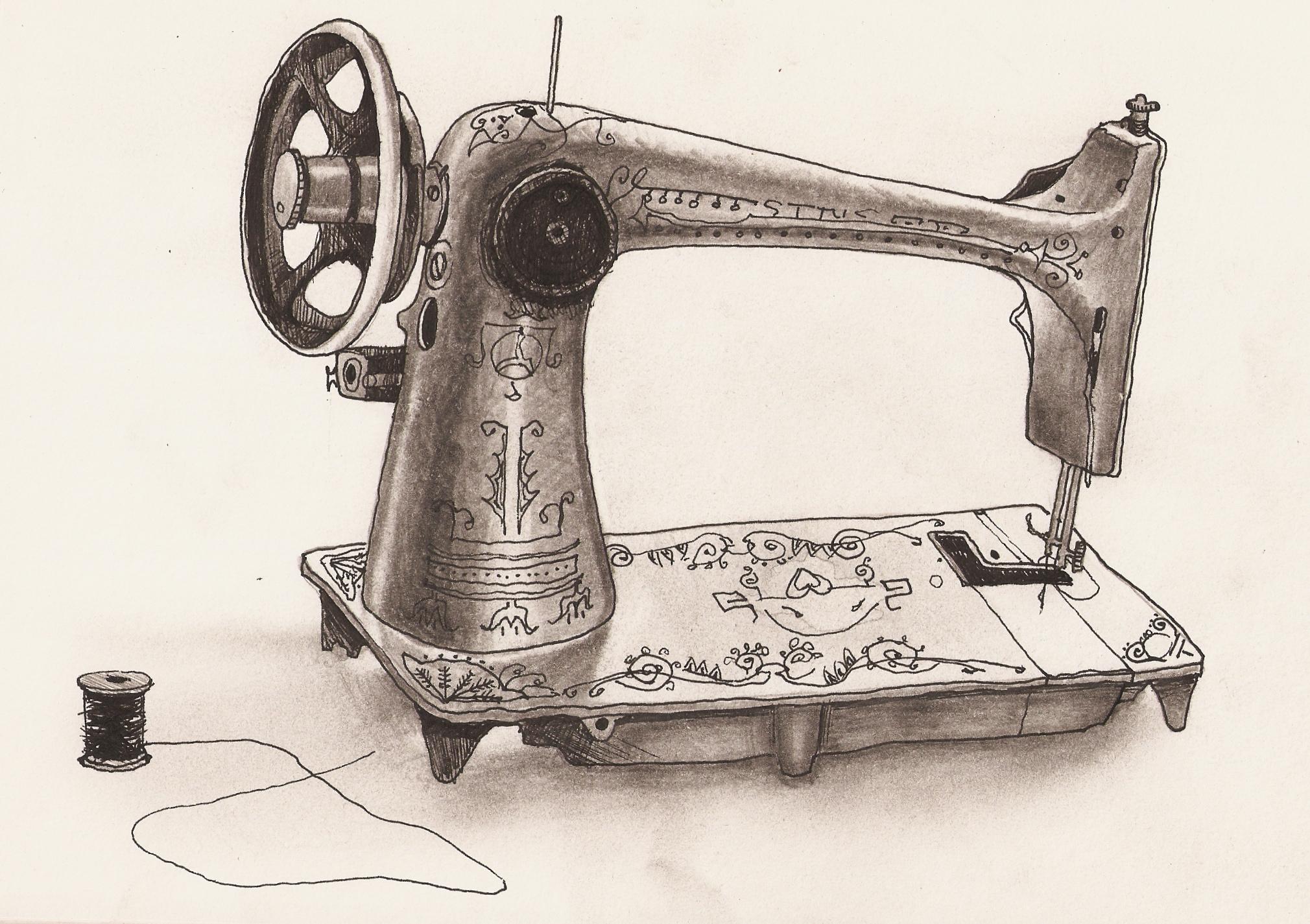 швейная машинка рисунок картинка