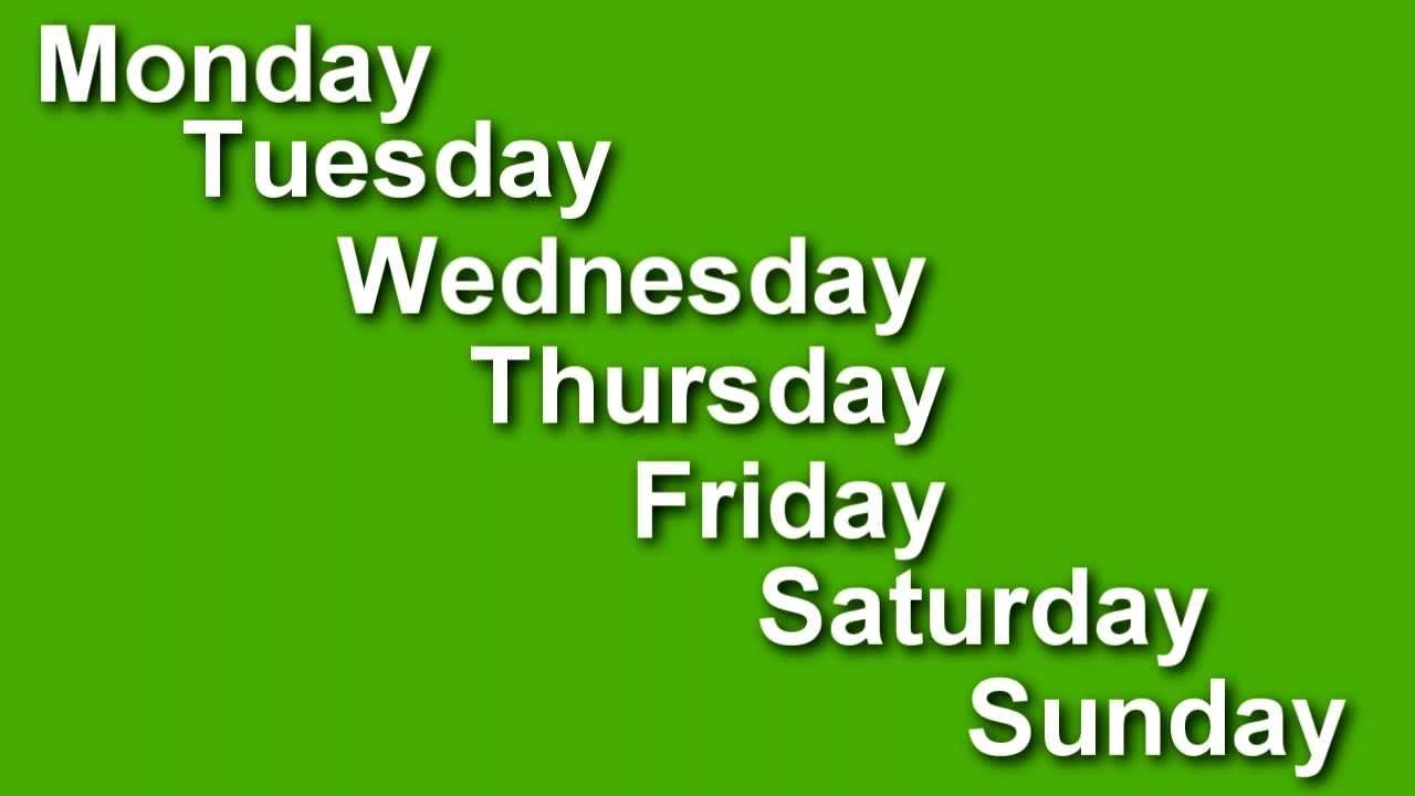 Days Of The Week Pictures Images Photos 1280x720