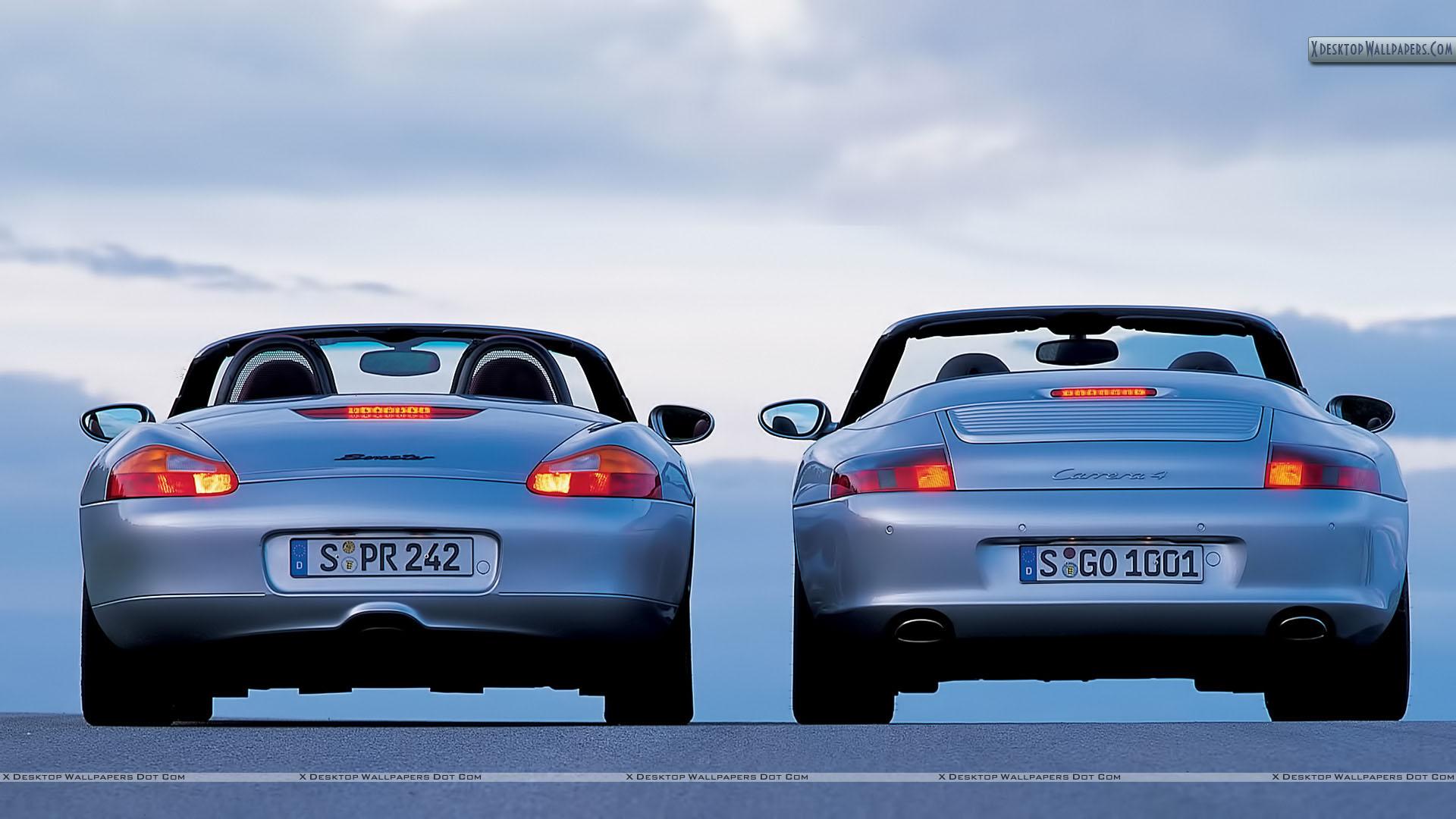 Porsche Boxster And 911 Cabriolet Wallpaper 1920x1080