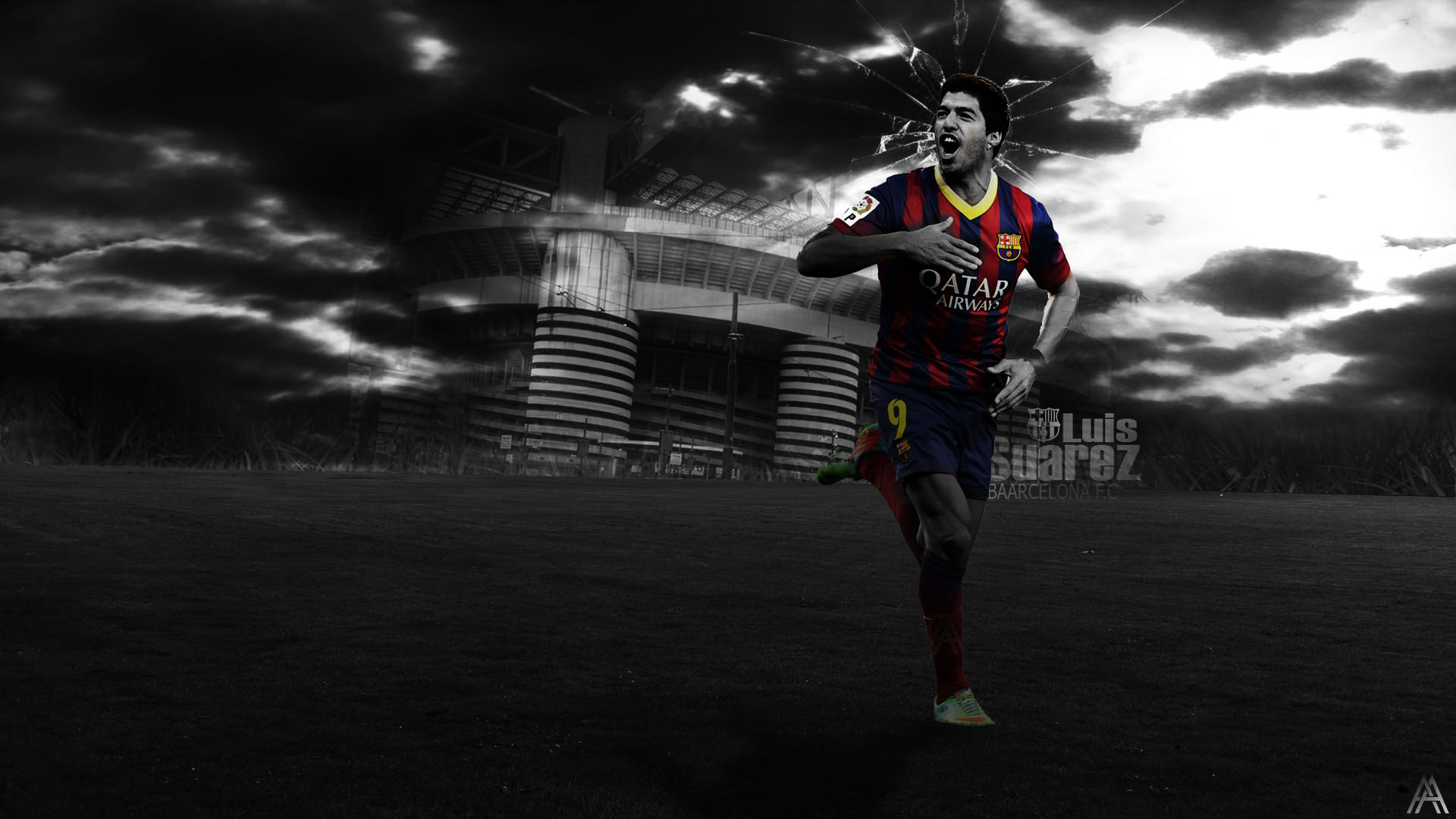 Luis Suarez FC Barcelona Wallpaper   Football Wallpapers HD 1920x1080