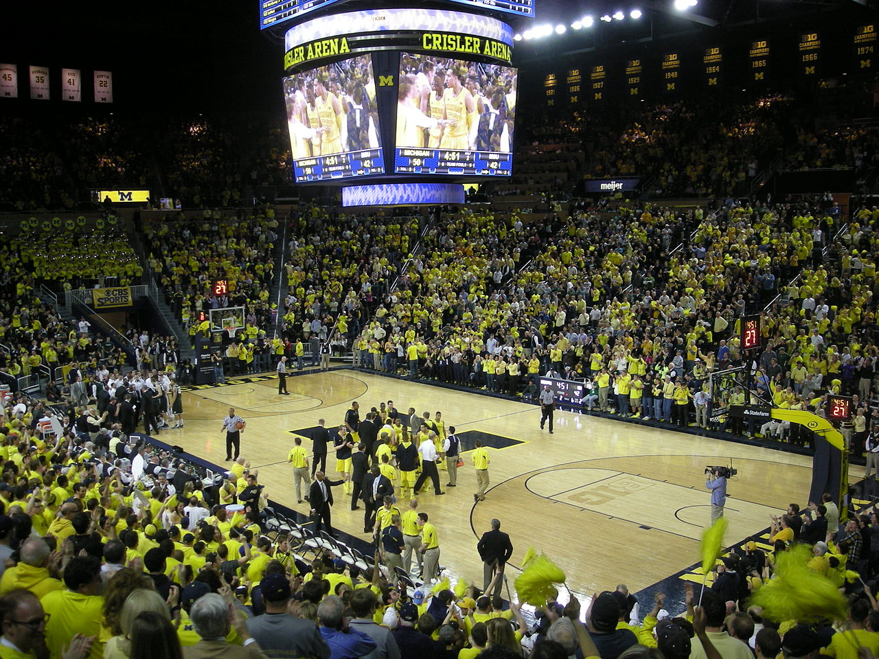 Michigan vs Michigan State Basketball 1280x960