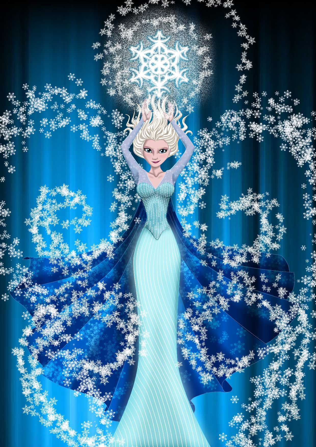 Disney Frozen Elsa Wallpaper in Pixels 1240x1754