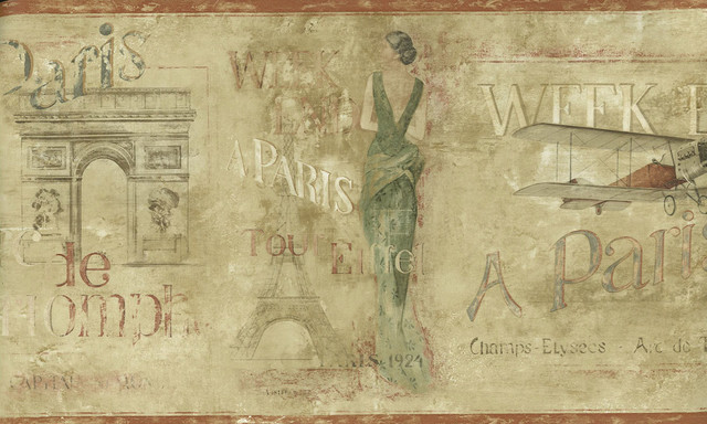 Vintage Wallpaper Border EV4600   Traditional   Wallpaper   by 640x384