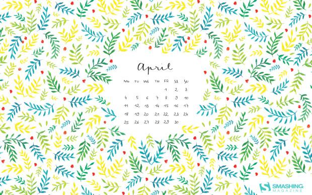 April quotes Desktop wallpaper calendar   Aprilie 2016 Touchofadream 620x388