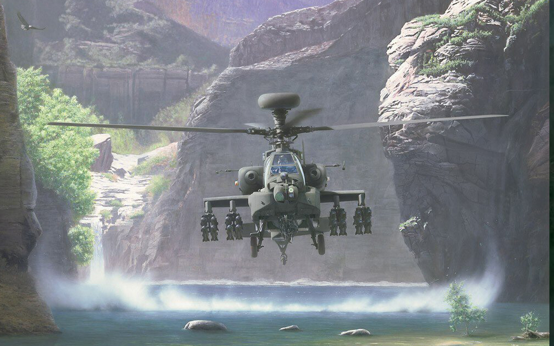 wallpaper helicopter Apache a jungle desktop HD Desktop Wallpapers 1920x1200