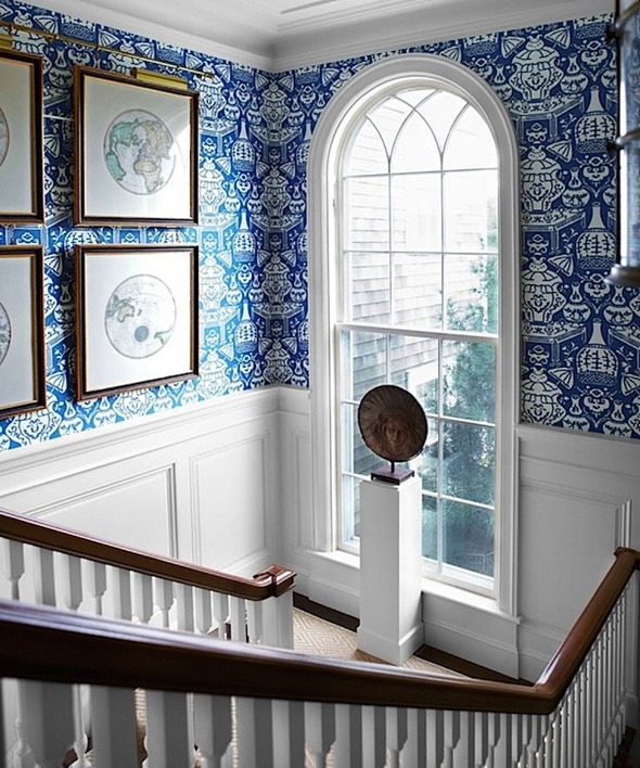 Clarence Houses The Vase Wallpaper   Interiors By Color 590x708