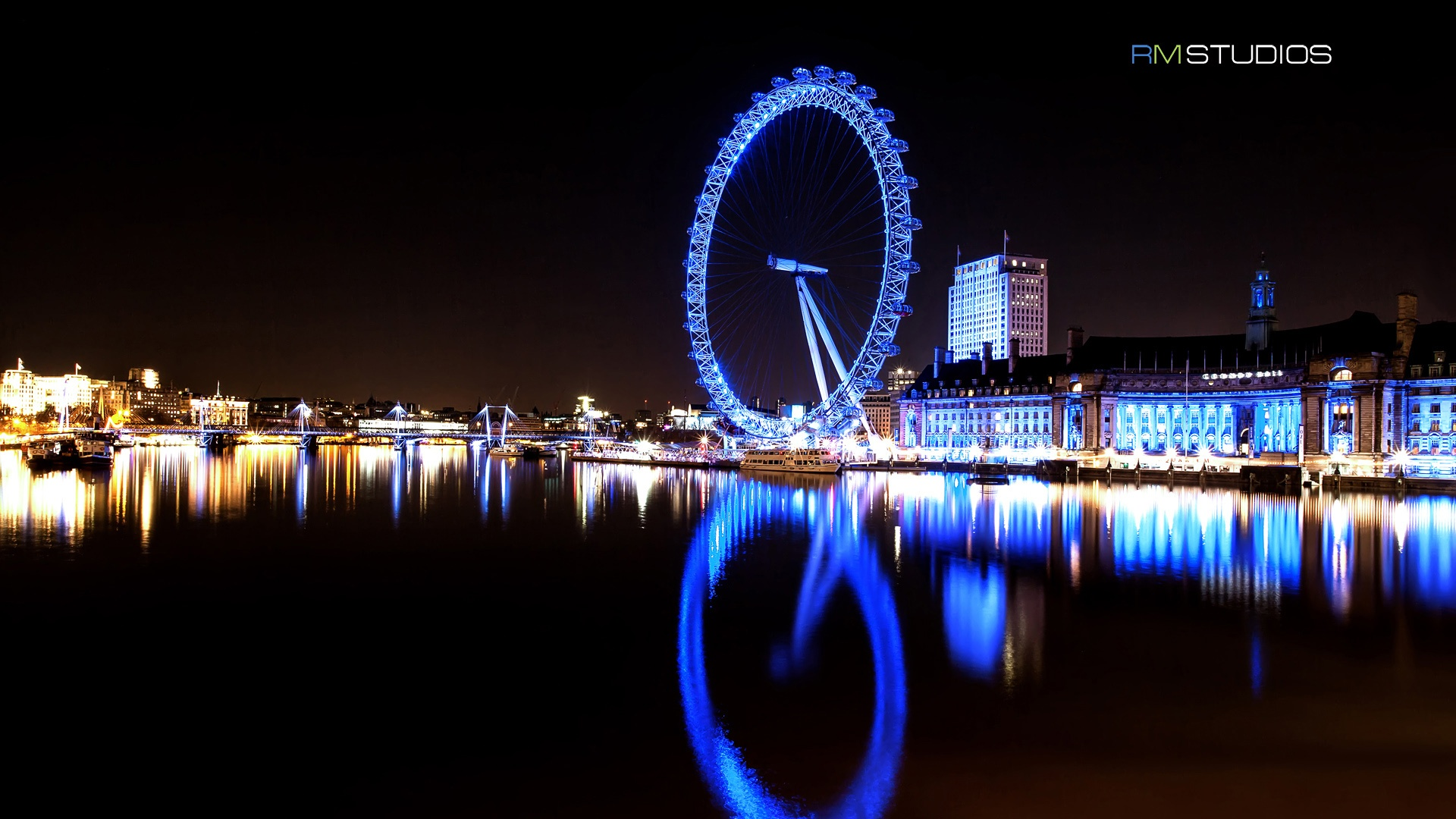 London eye river thames   1920x1080 1920x1080