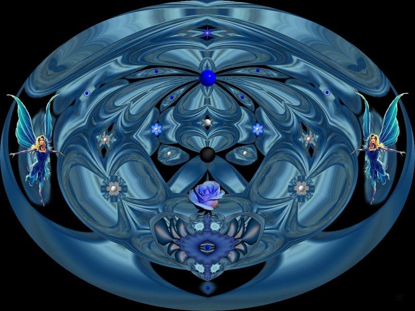 Blue Fairys Garden wallpaper   ForWallpapercom 808x606