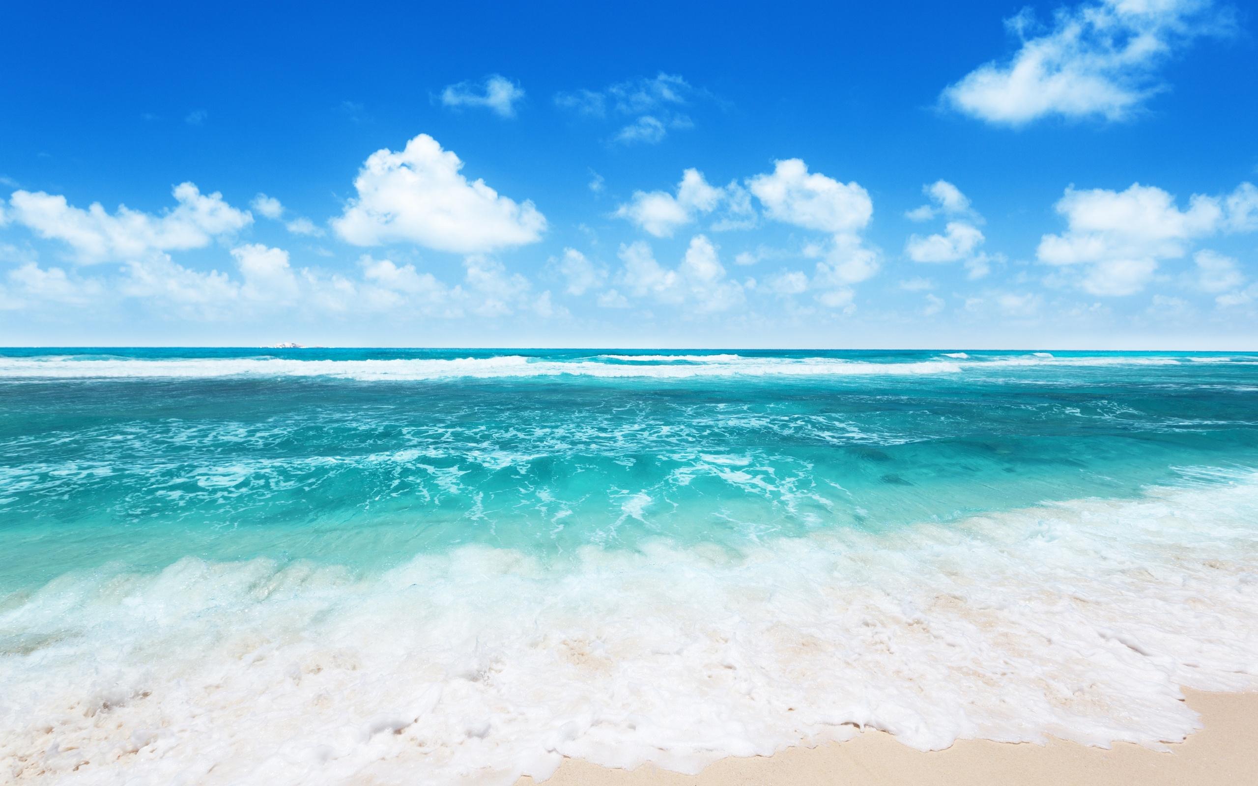 Waves sea water nature ocean wallpaper 2560x1600 2560x1600