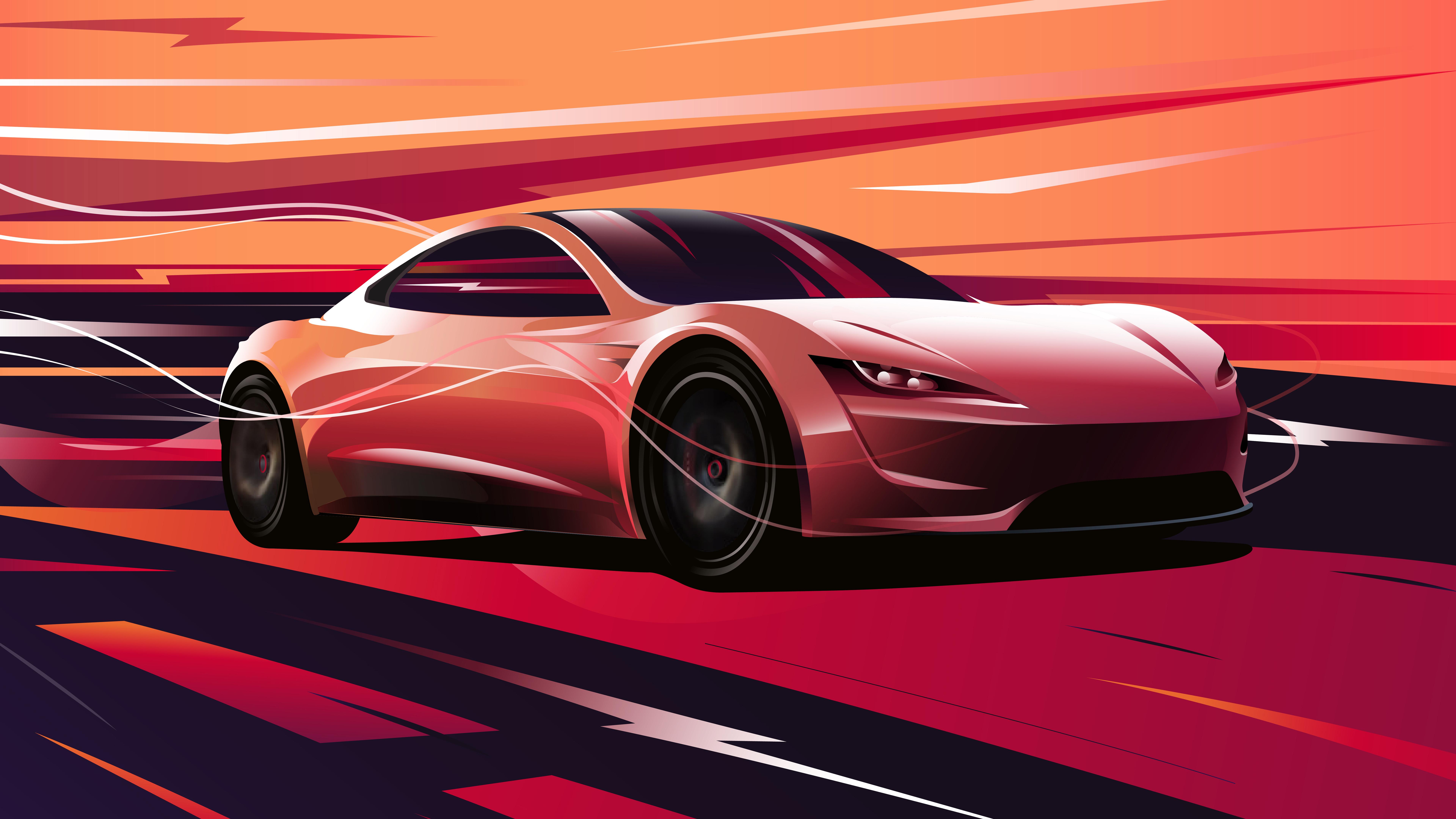 Tesla Roadster 2020 4K 8K Wallpapers HD Wallpapers 7680x4320