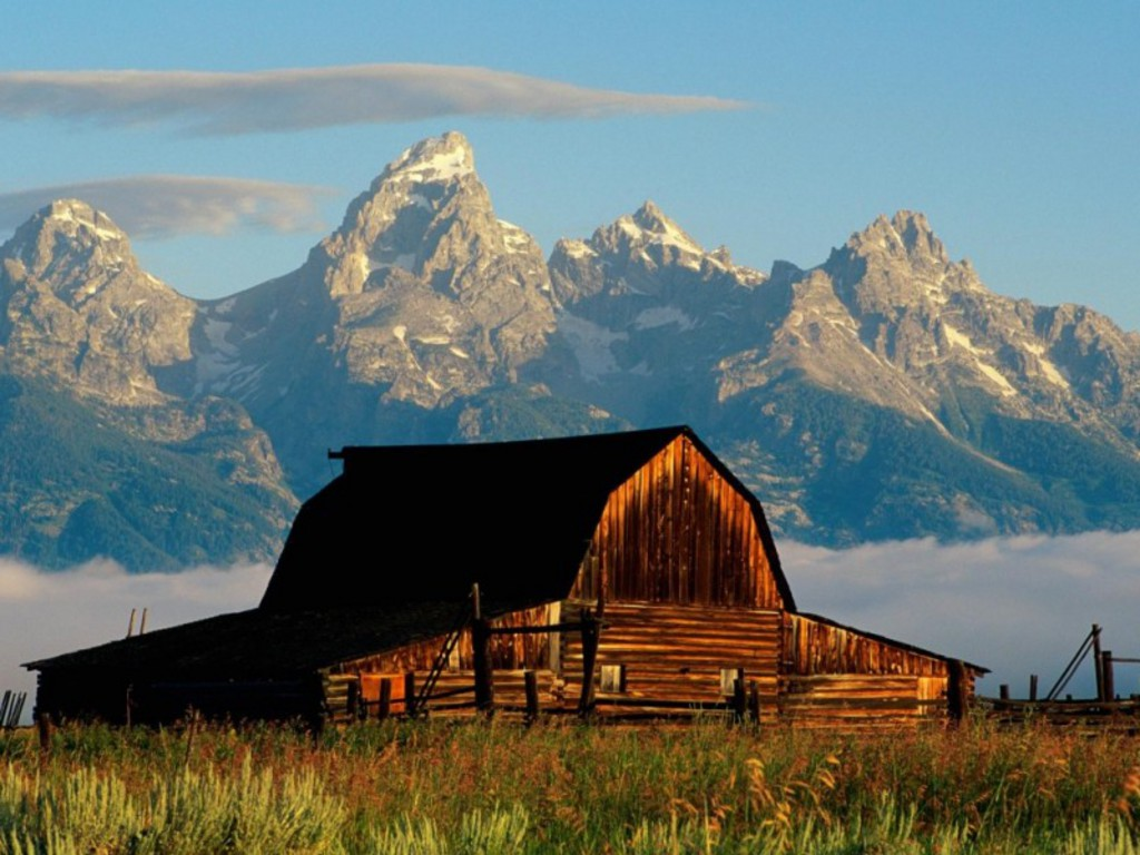 Mountains Cabin Desktop Wallpaper 1024x768 pixel Nature HD Wallpaper 1024x768