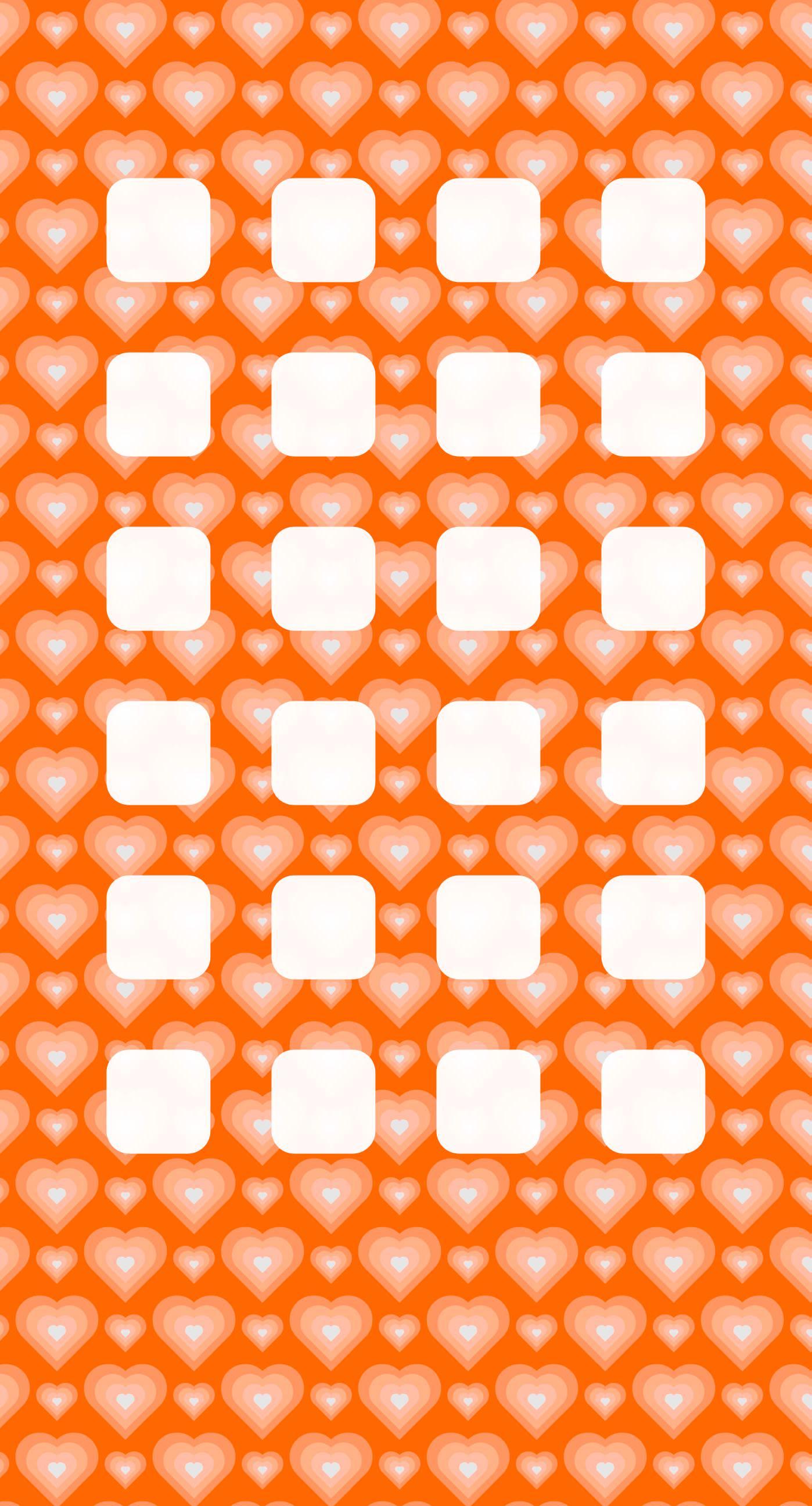 Heart pattern for girls orange shelf wallpapersc iPhone7Plus 1398x2592