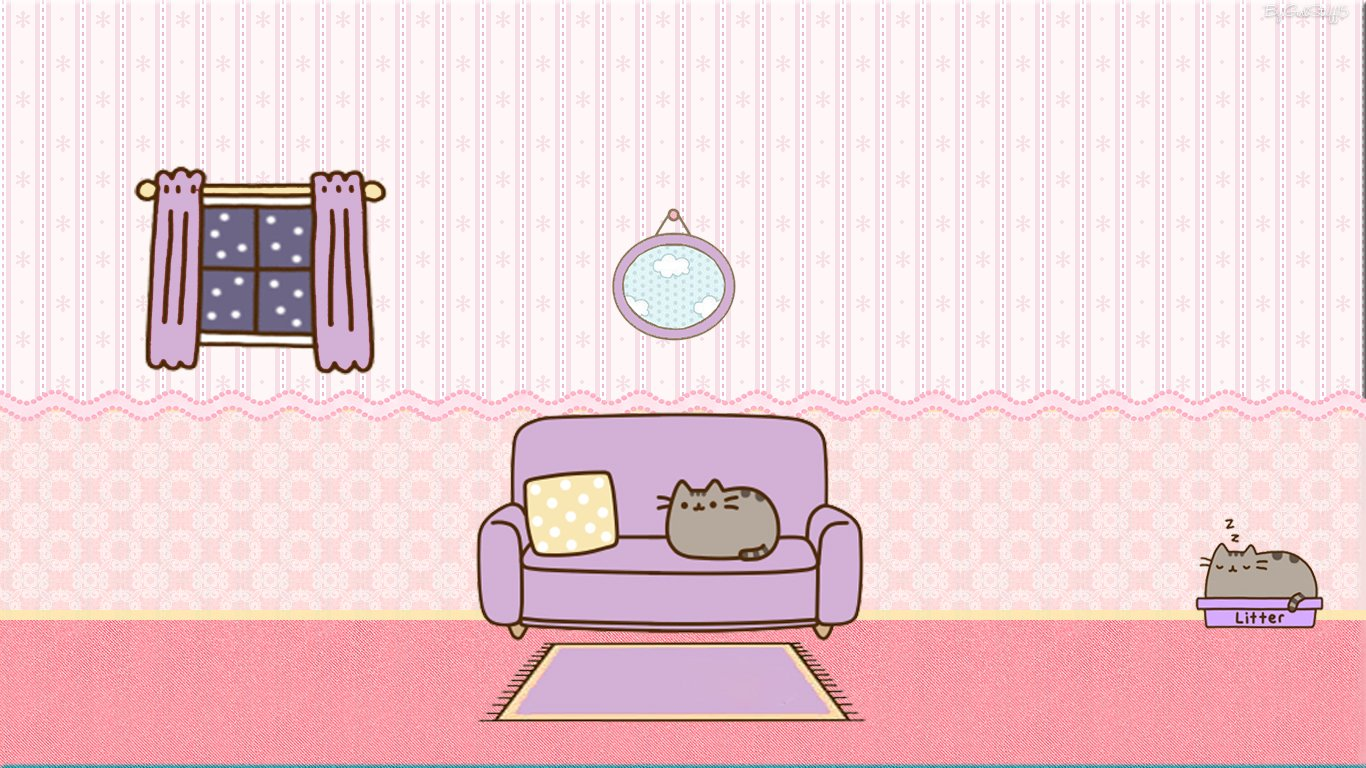 49 Pusheen Cat Desktop Wallpaper On Wallpapersafari