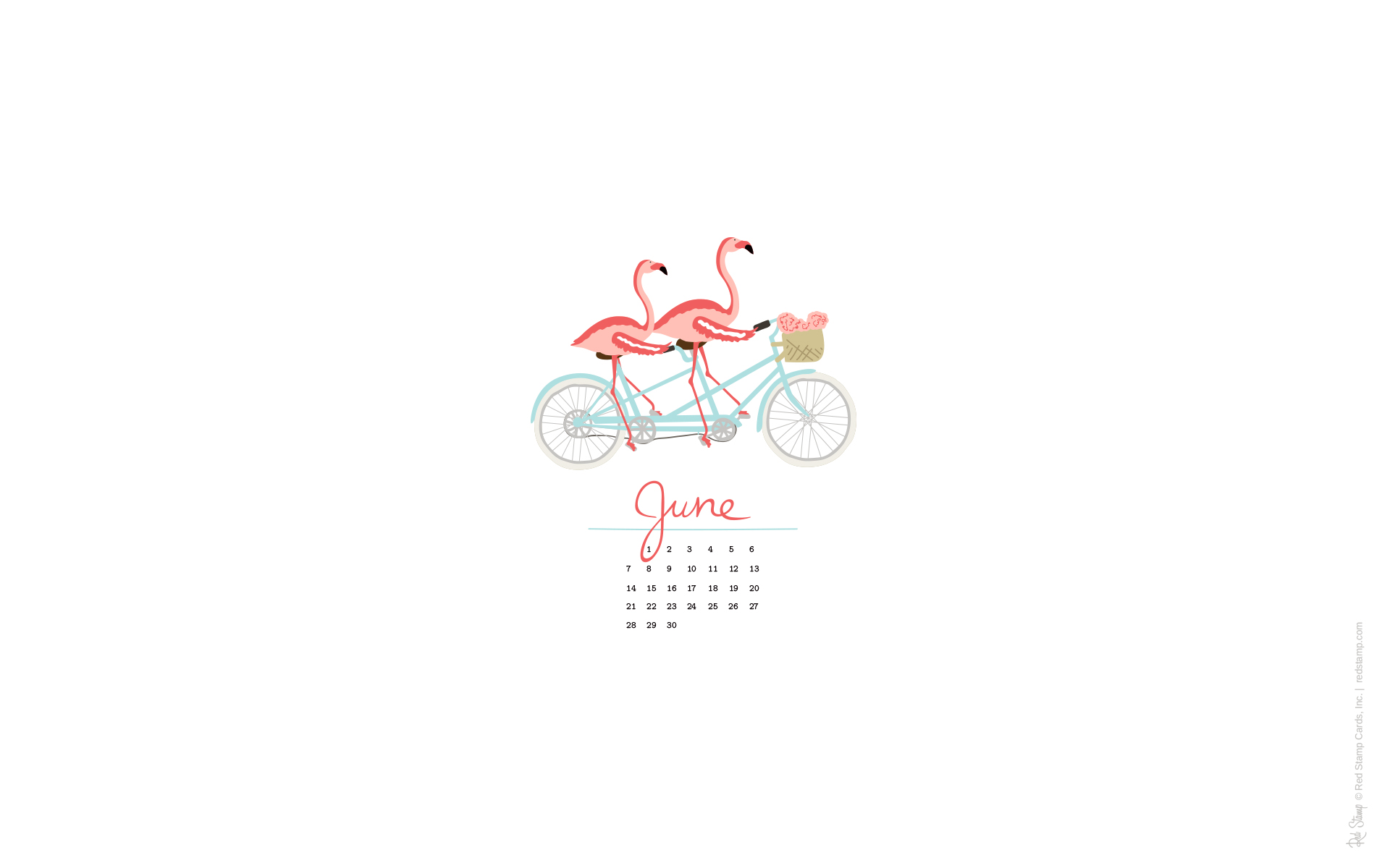 June 2015 Calendars and Wallpaper   Red Stamp 1920x1200