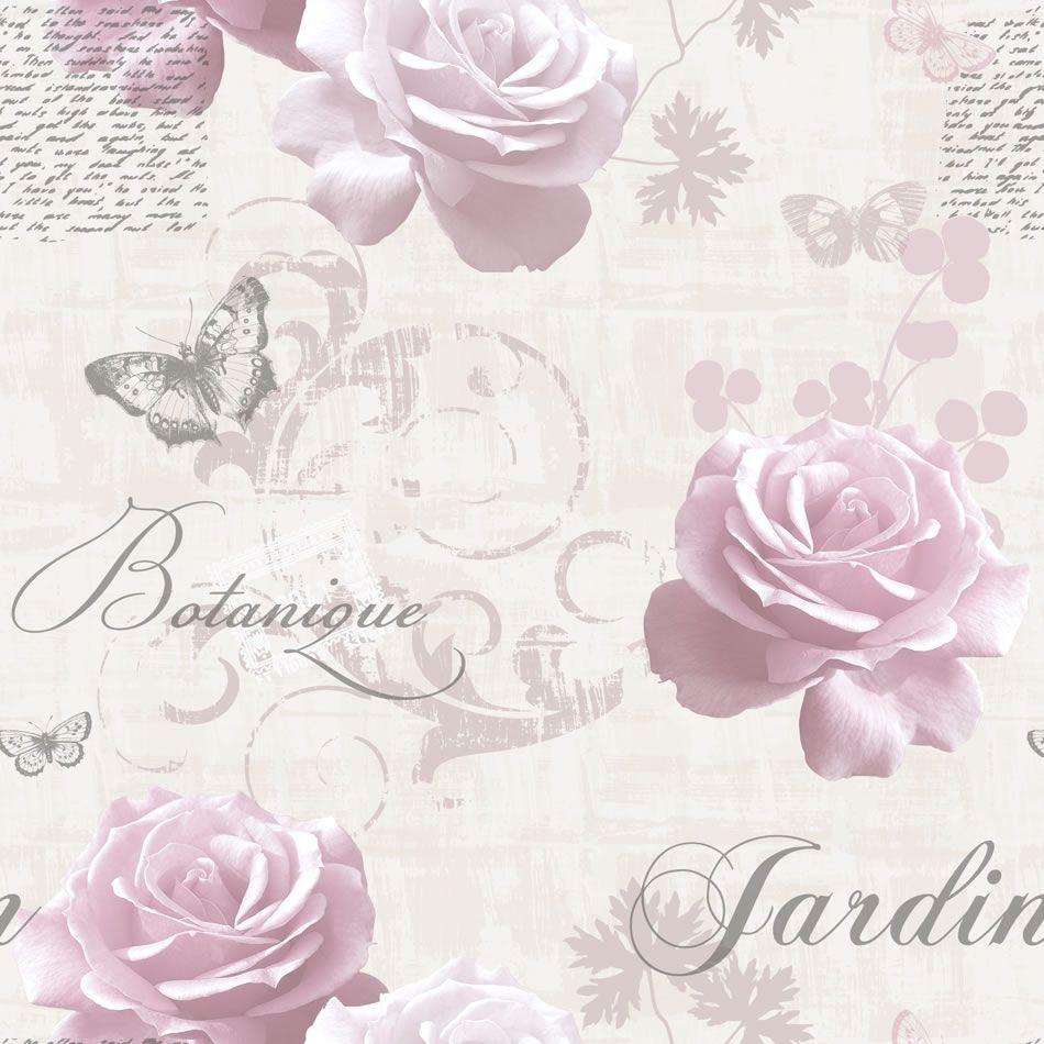 Pink Silver   127502   Botanical Garden   Rose Butterfly Script 950x950