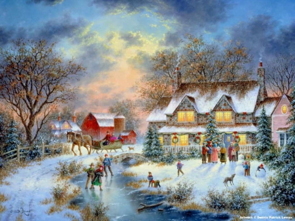 Free Desktop Wallpaper Winter Barn Wallpapersafari