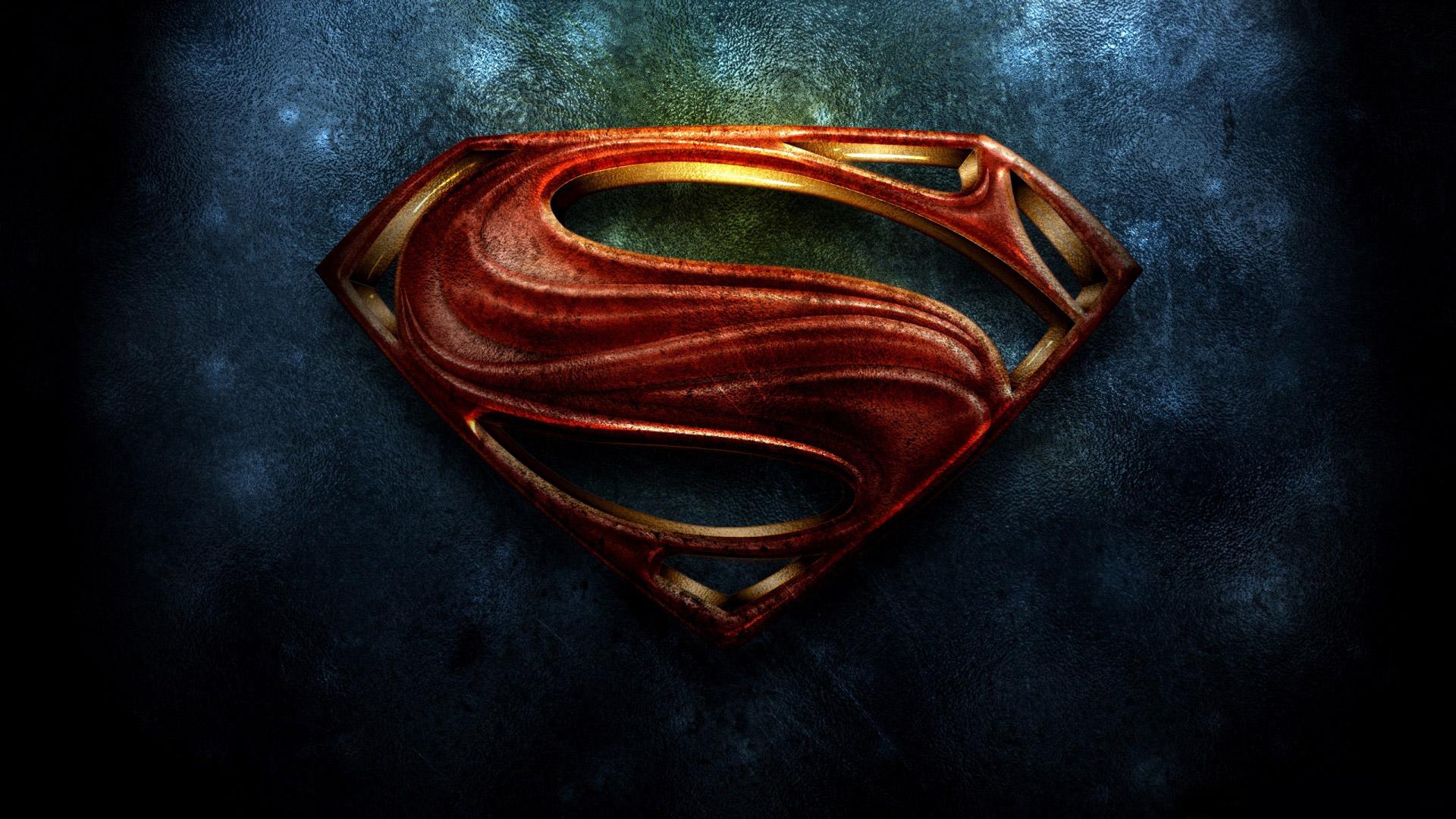 Superman The Man of Steel 2013 Logo HD Wallpaper 1920x1080