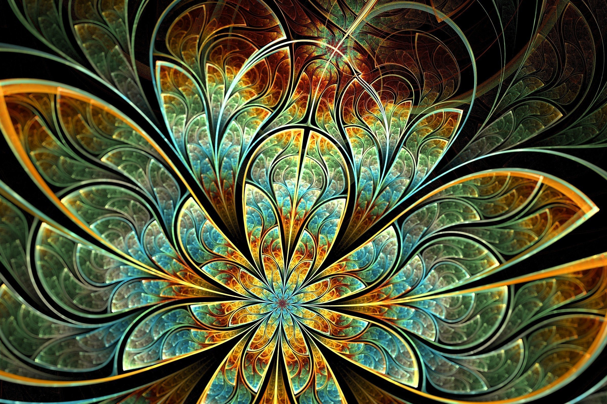 2530 Fractal HD Wallpapers Background Images 2400x1600