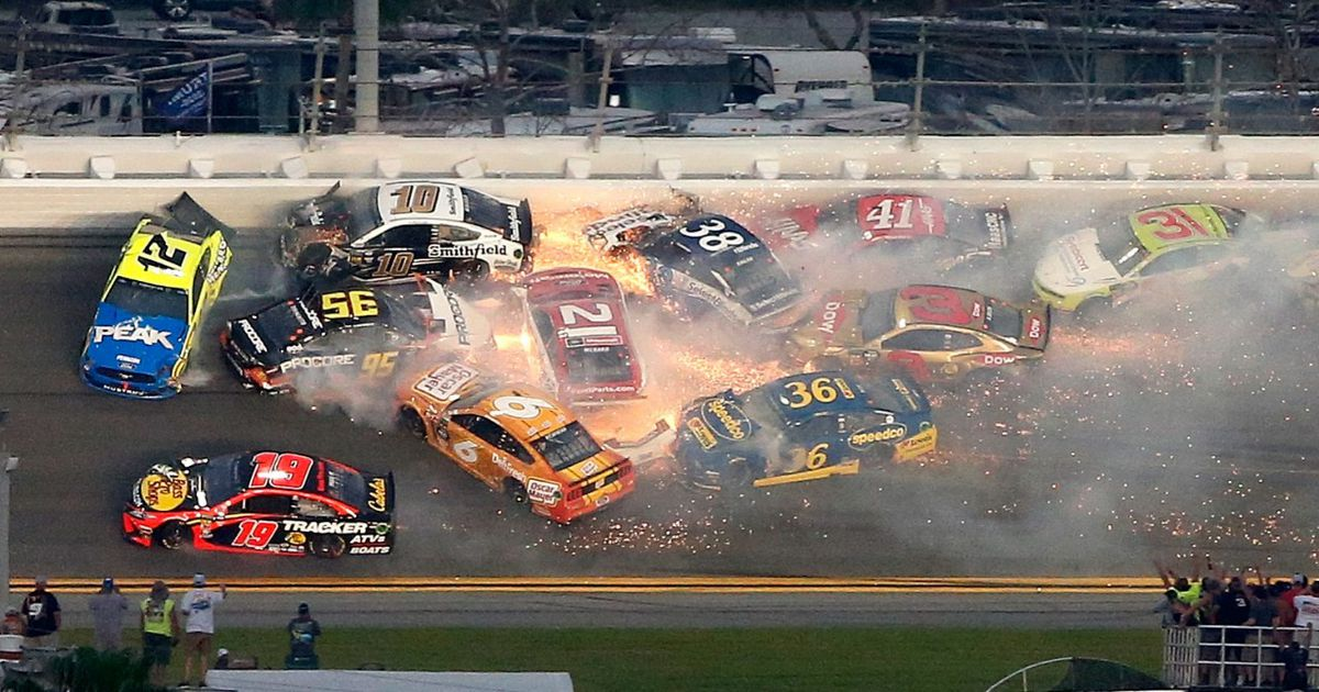 All of the crashes from the 2019 Daytona 500 FOX Sports 1200x630