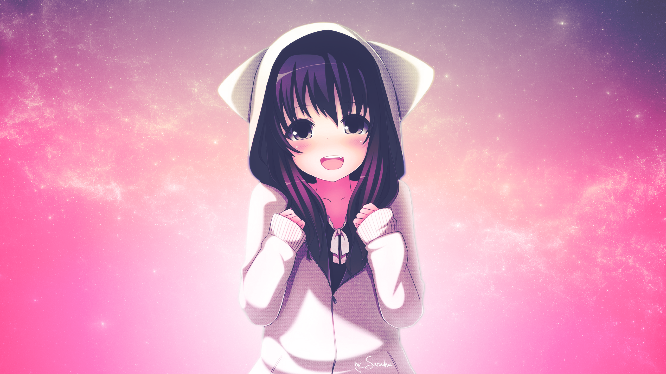 neko girl cute art beautiful pictures anime funny 2560x1454