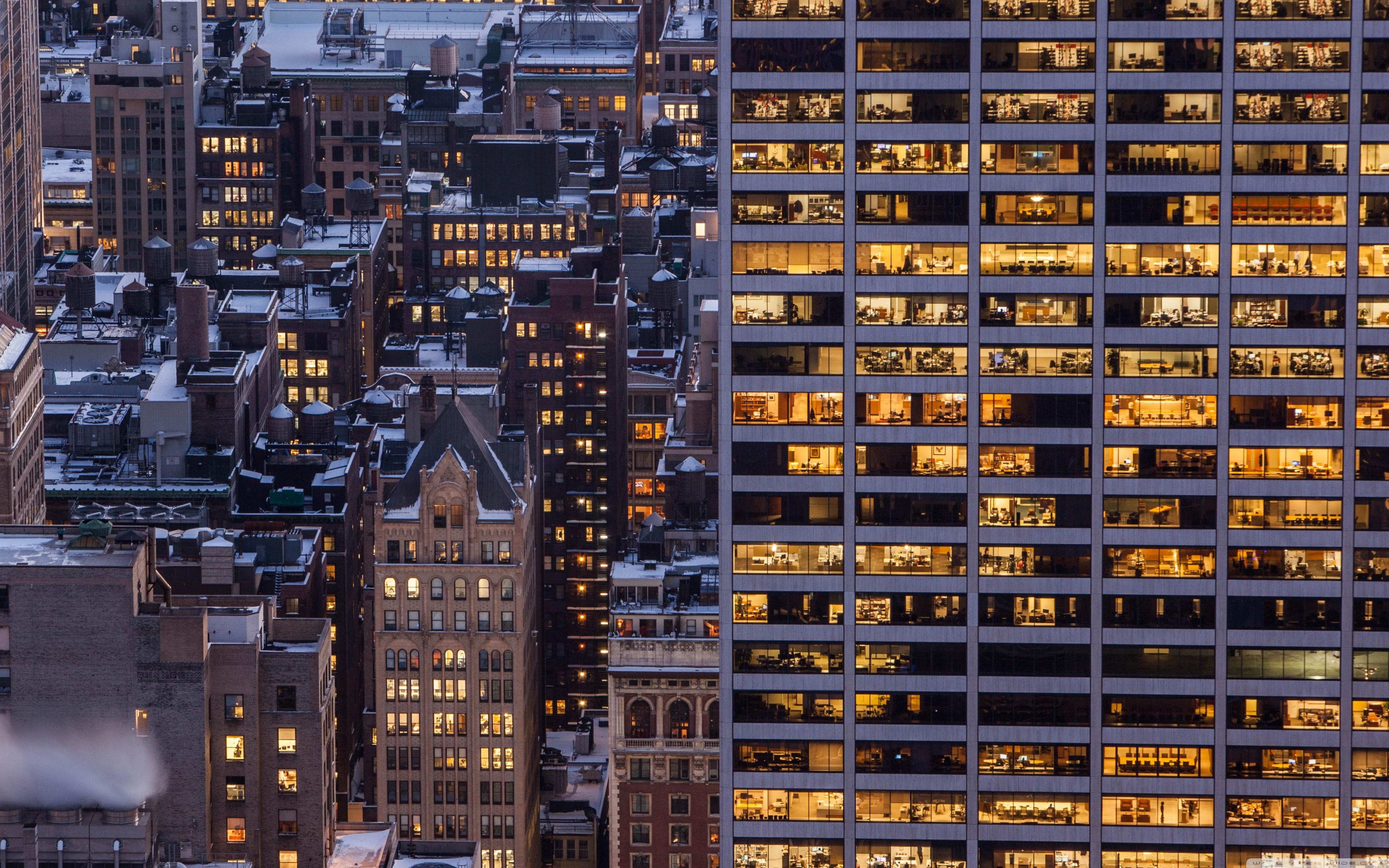 New York City Winter 4K HD Desktop Wallpaper for 4K Ultra HD TV 3840x2400