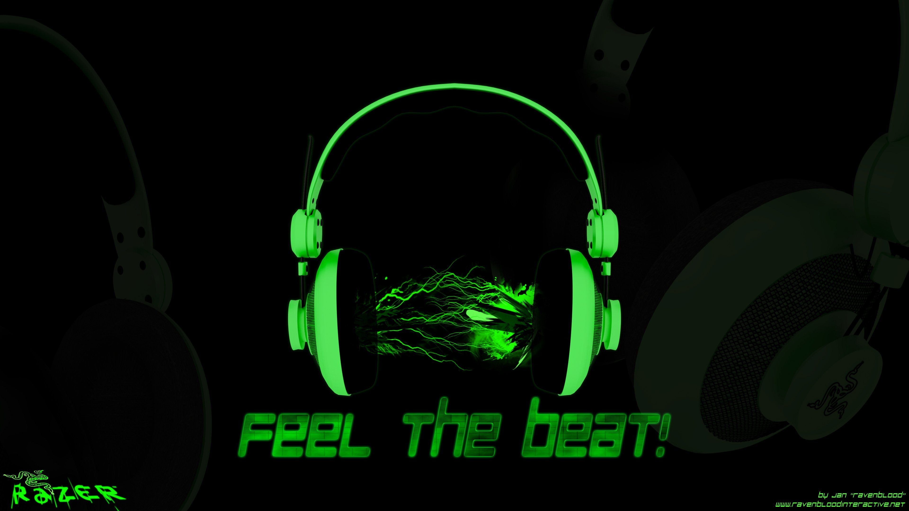 RAZER GAMING computer game headphones wallpaper 3840x2160 400633 3840x2160