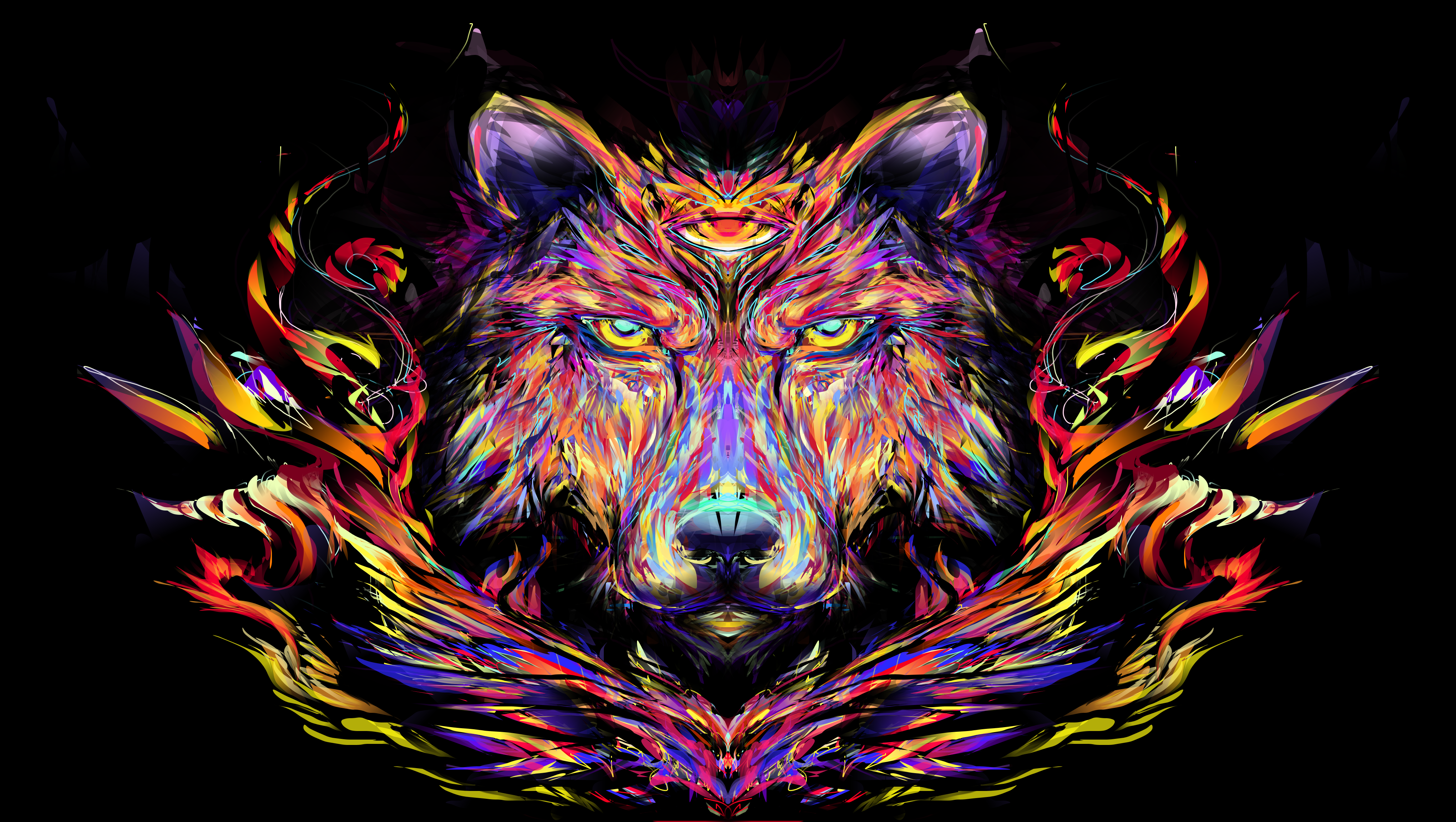 Displaying 18 Images For   Trippy Wolf Pictures 4080x2304