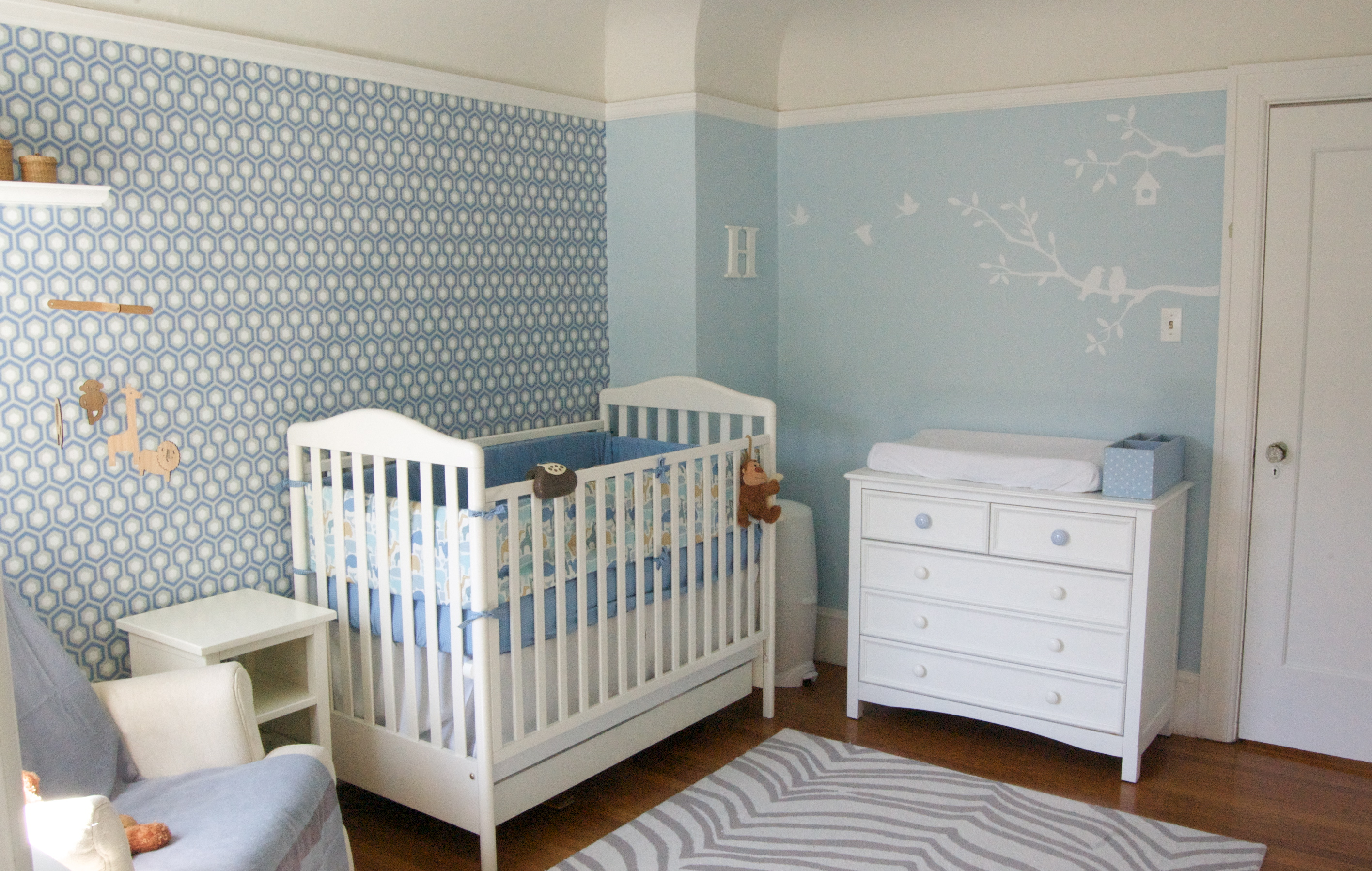 46 Baby Boy Nursery Wallpaper On Wallpapersafari