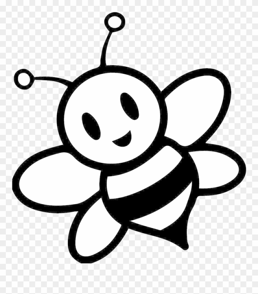 Bee Clipart Black And White Wallpaper Hd Images Honey   Honey Bee 880x1003