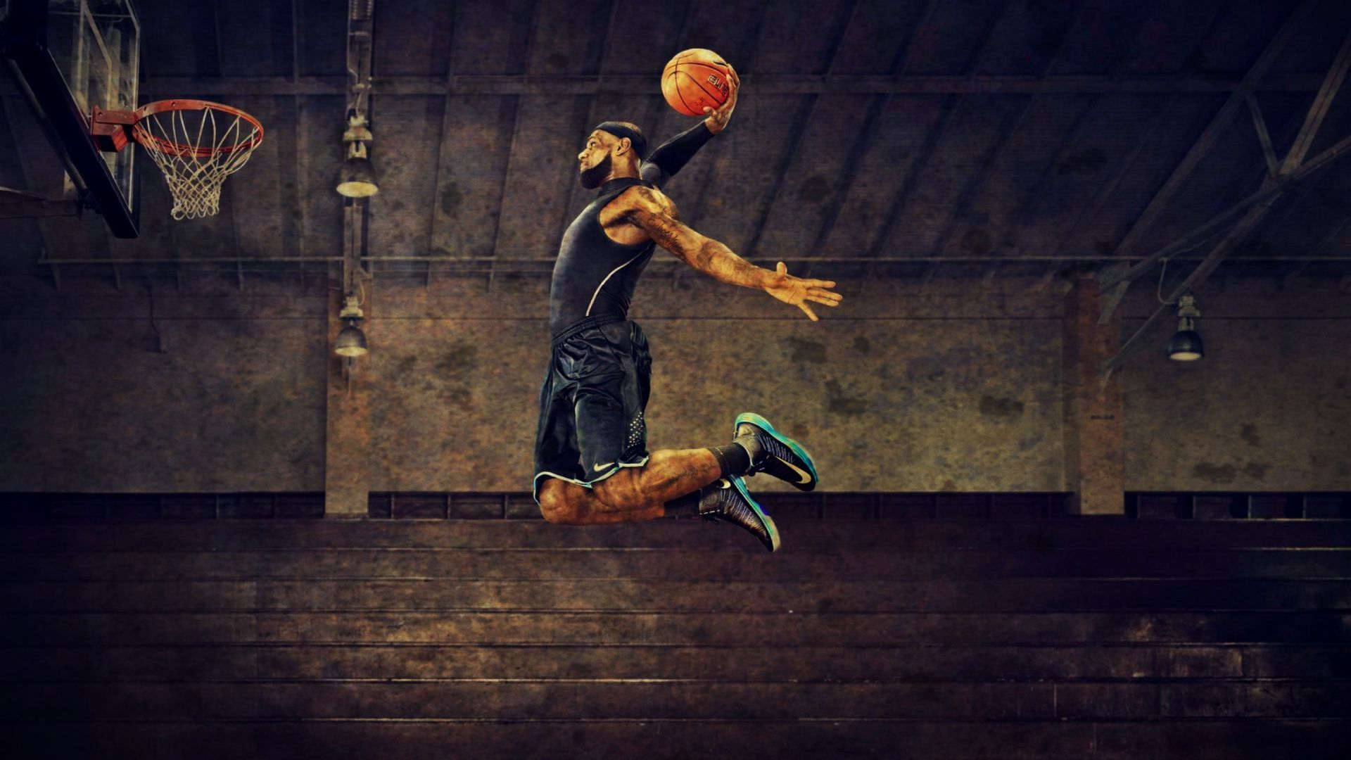 67 Lebron James Dunk Wallpaper On Wallpapersafari