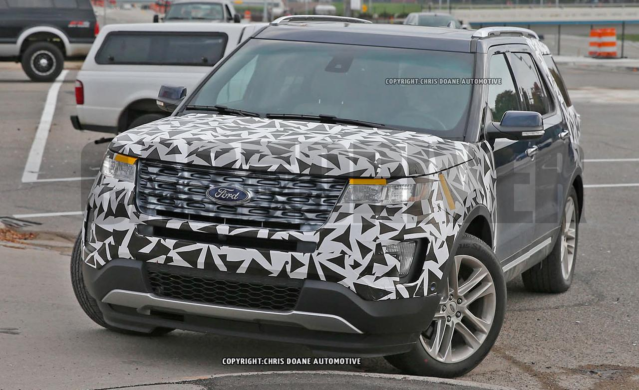 2016 Ford Explorer spy photo 1280x782