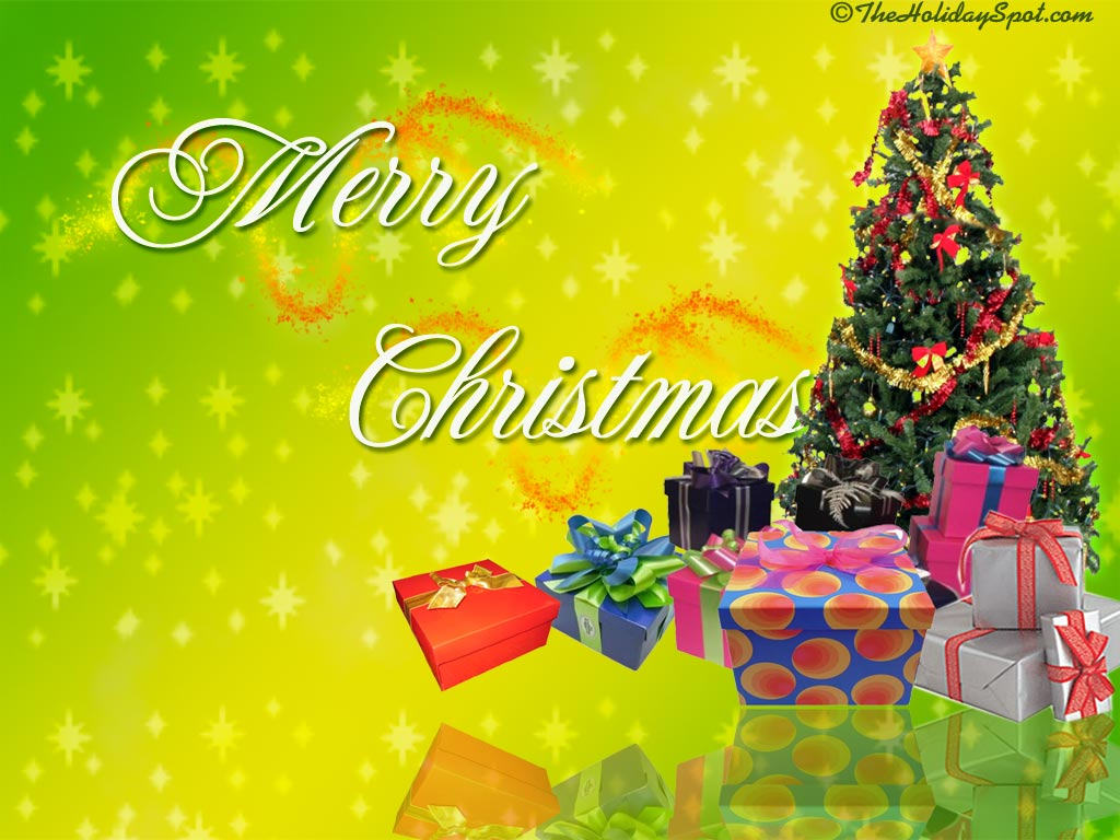 Christmas Wallpapers   Christmas Tree and Gifts 1024x768